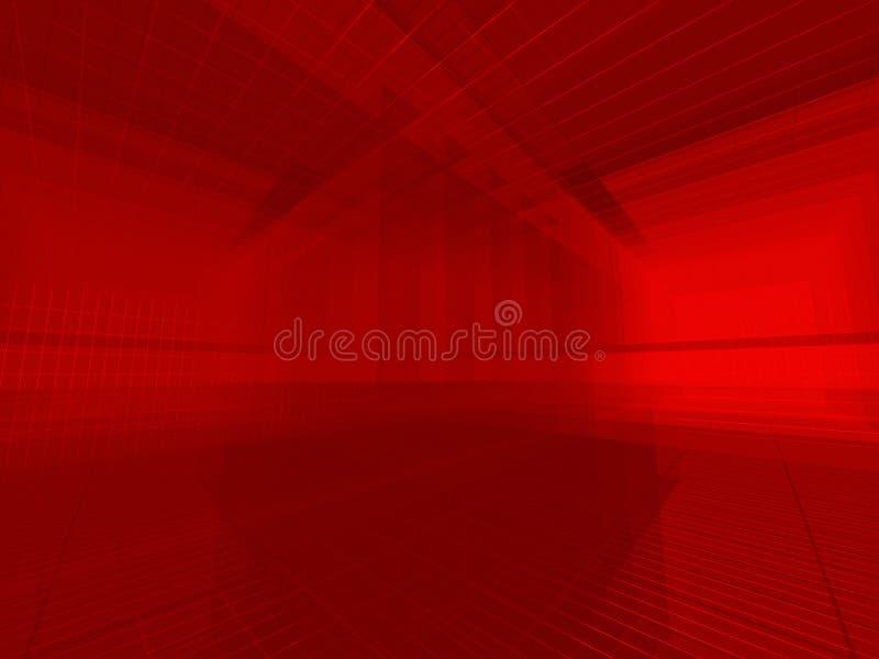 Espaço vermelho do fio ilustração do vetor