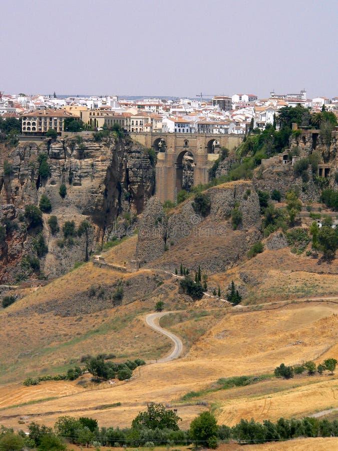 España - Andaluc3ia - Ronda - Puente Nuevo foto de archivo libre de regalías