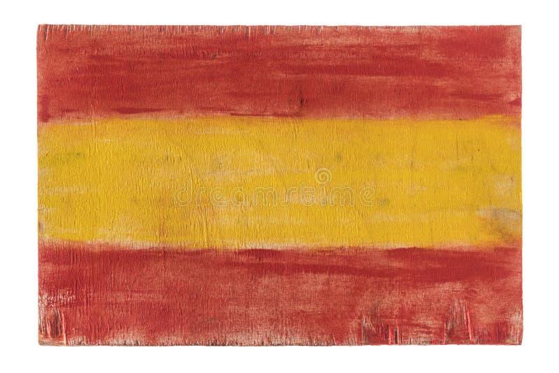 España, bandera española en el fondo de madera foto de archivo