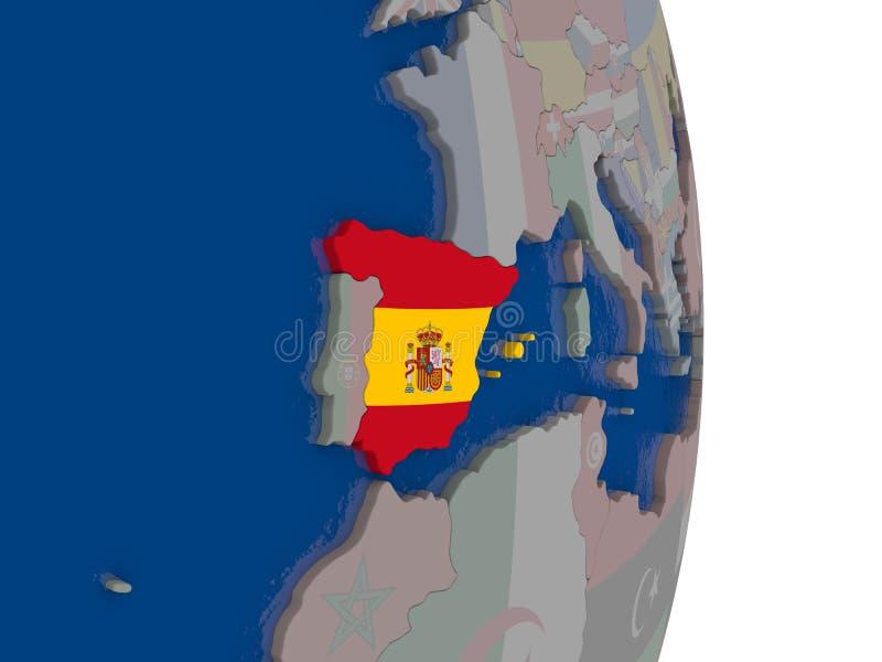 España con su bandera libre illustration