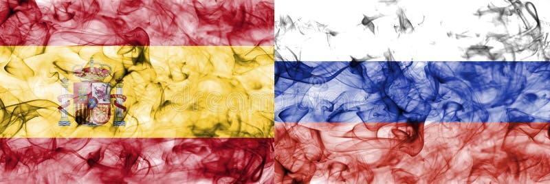 España contra la bandera del humo de Rusia, finales cuartos, mundial 2018, Moscú, Rusia del fútbol libre illustration