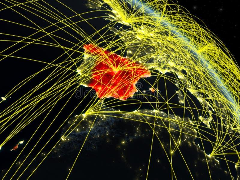 España del espacio con la red ilustración del vector