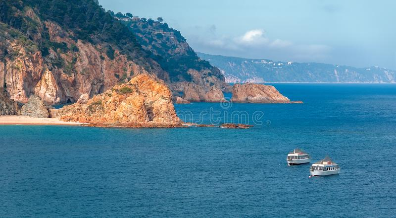 españa Tossa de marcha cataluña Vista agradable del mar El Medite fotos de archivo libres de regalías