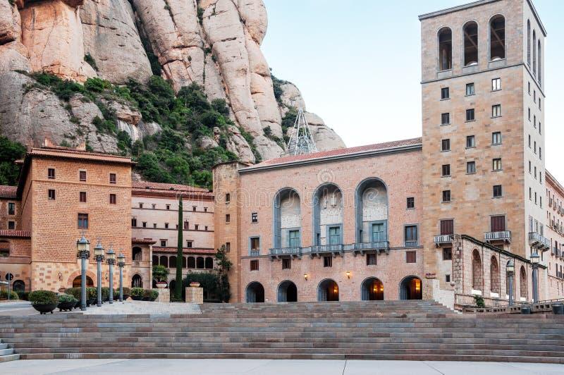 españa Vista del monasterio de Montserrat en Cataluña, Barcelo imagen de archivo