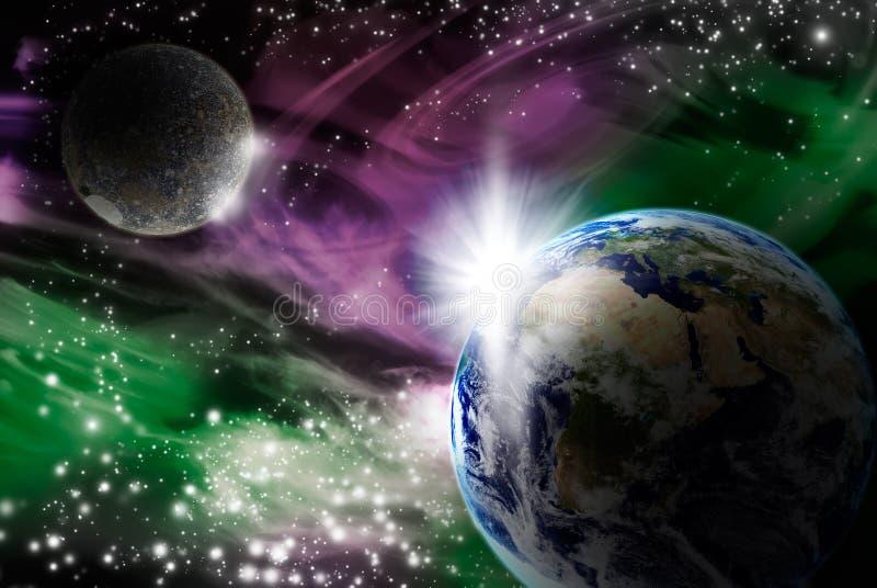 Espace extra-atmosphérique illustration stock