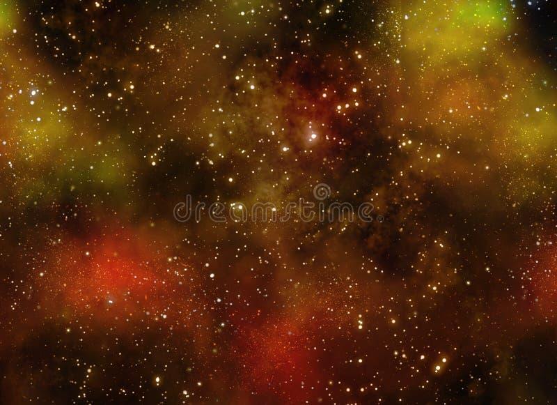 Espace extra-atmosphérique profond étoilé nebual et galaxie illustration de vecteur