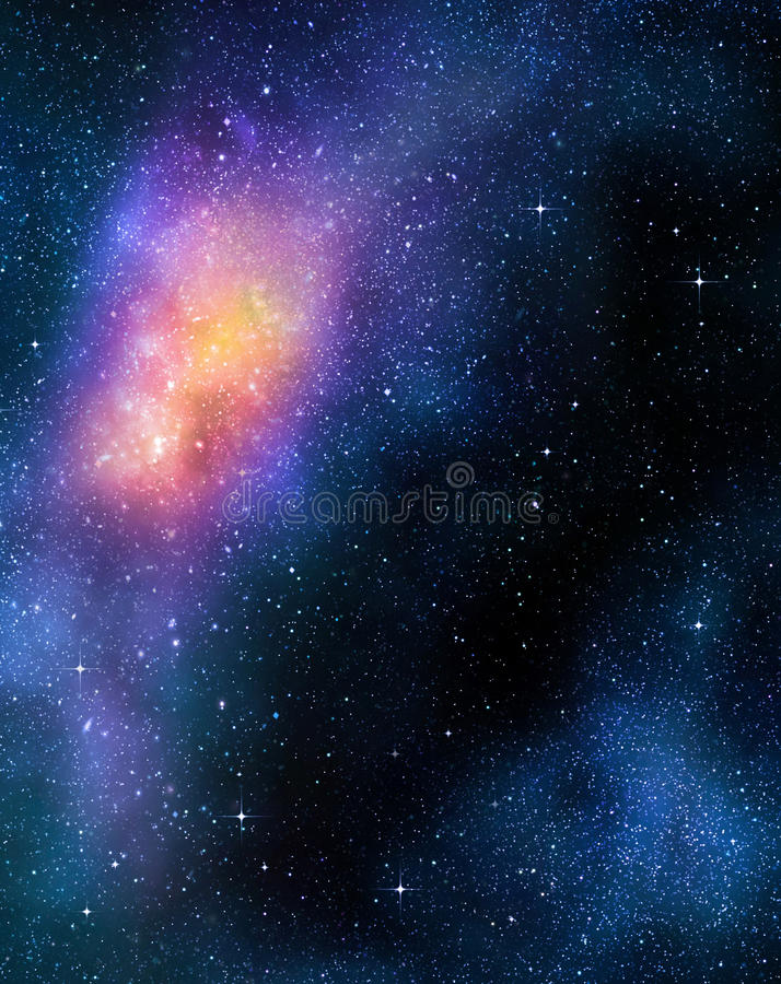 Espace extra-atmosphérique profond étoilé nebual et galaxie illustration libre de droits