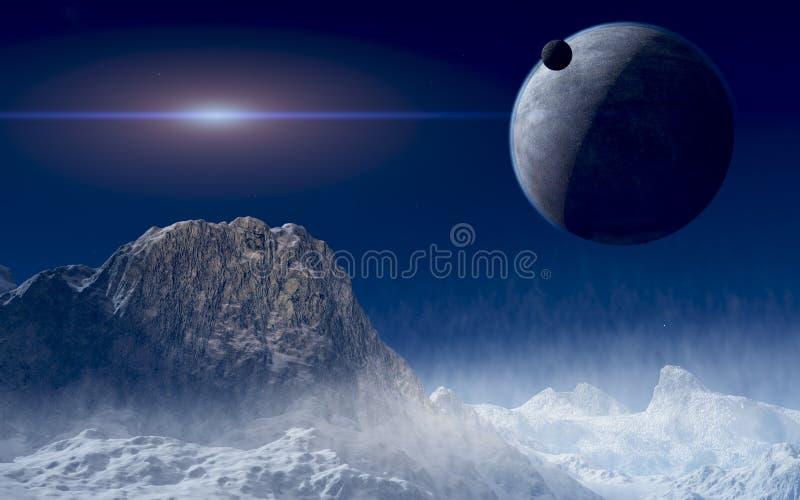 Espace lointain illustration stock