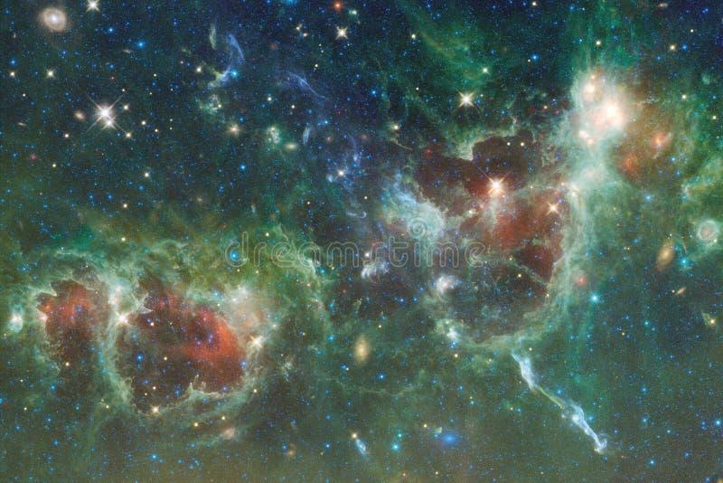 Espace lointain Imagination de la science-fiction dans l'idéal de haute résolution pour le papier peint image stock