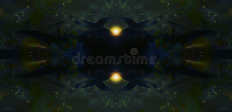 Espace o fundo cósmico com estrelas e luz shinning ilustração royalty free