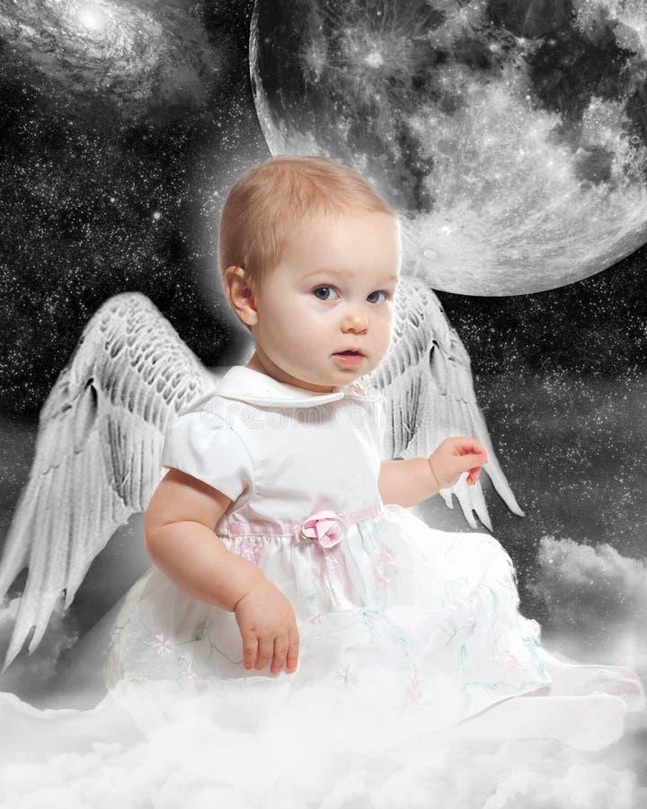 Espacez l'ange photographie stock libre de droits
