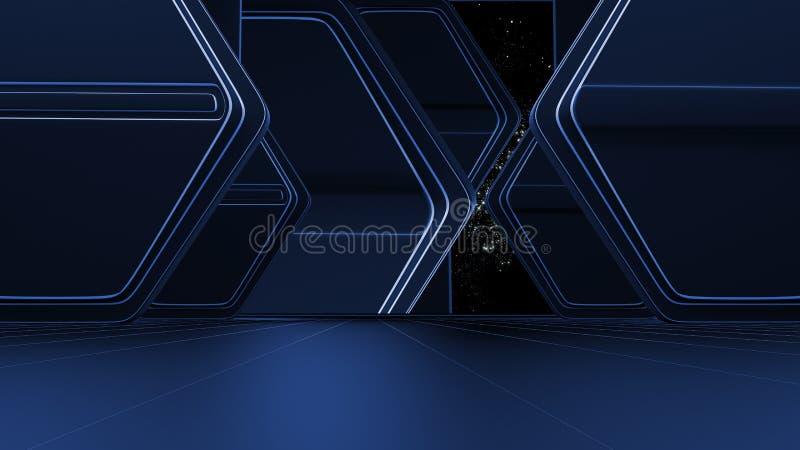 Espacie el ambiente, listo para los comp de sus caracteres 3d ilustración del vector