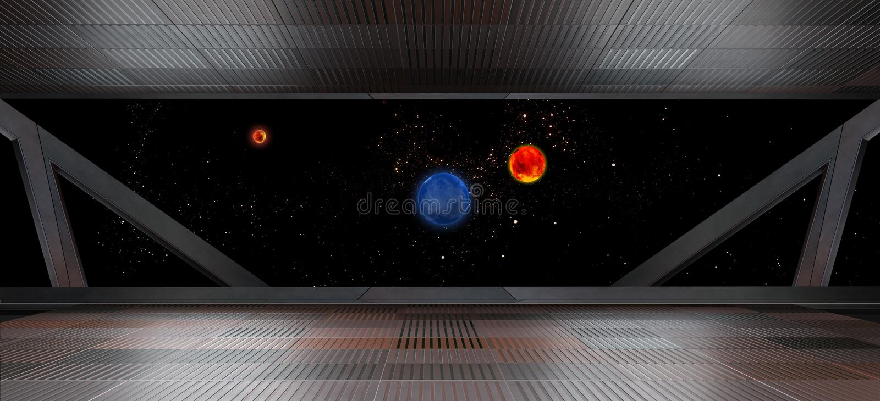 Espacie el ambiente, listo para los comp de sus caracteres 3d rinden libre illustration