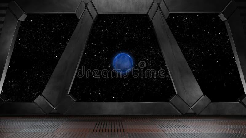 Espacie el ambiente, listo para los comp de sus caracteres 3d rinden ilustración del vector