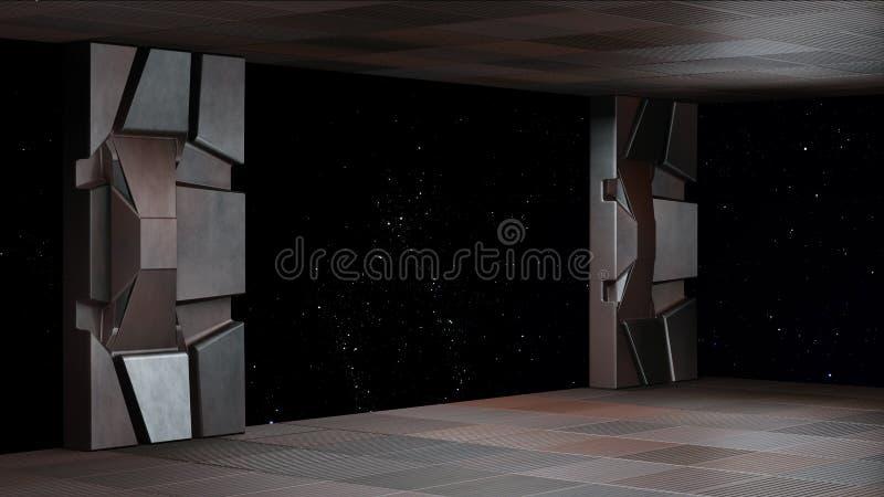 Espacie el ambiente, listo para los comp de sus caracteres que 3D rinden ilustración del vector