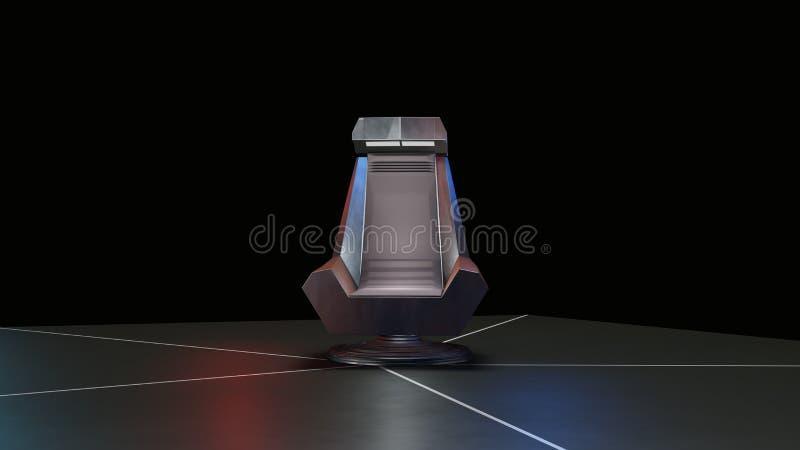 Espacie el trono, listo para los comp de sus caracteres ilustración del vector