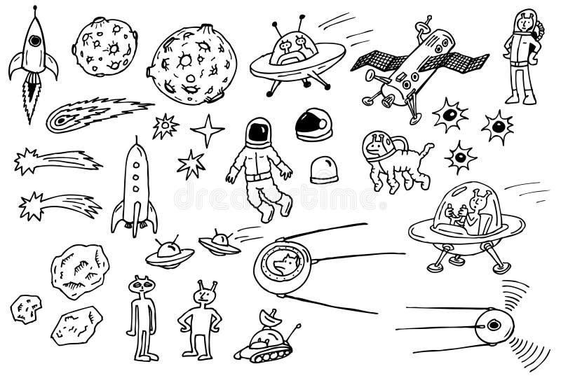 Espacie la ilustración stock de ilustración