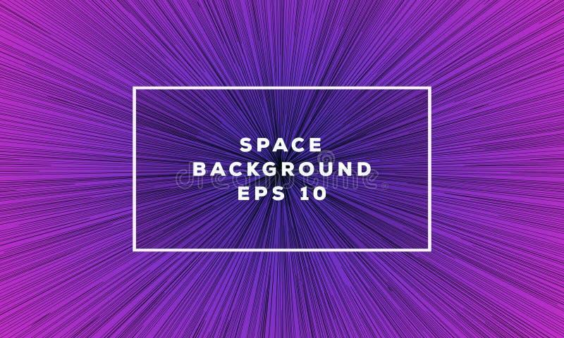 Espacie la línea de moda estilo de color de la pendiente del backgound geométrico libre illustration