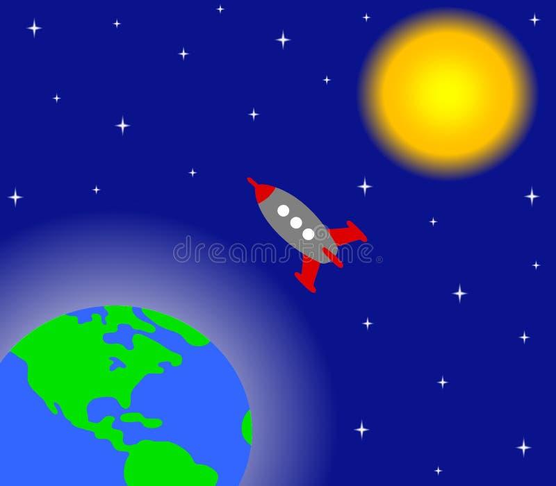 espacio ilustración del vector