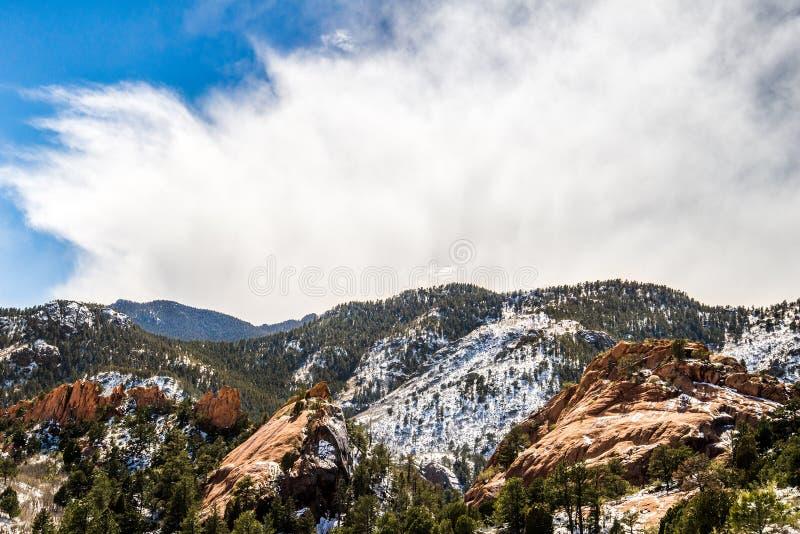 Espacio abierto Colorado Springs del barranco rojo de la roca imagenes de archivo