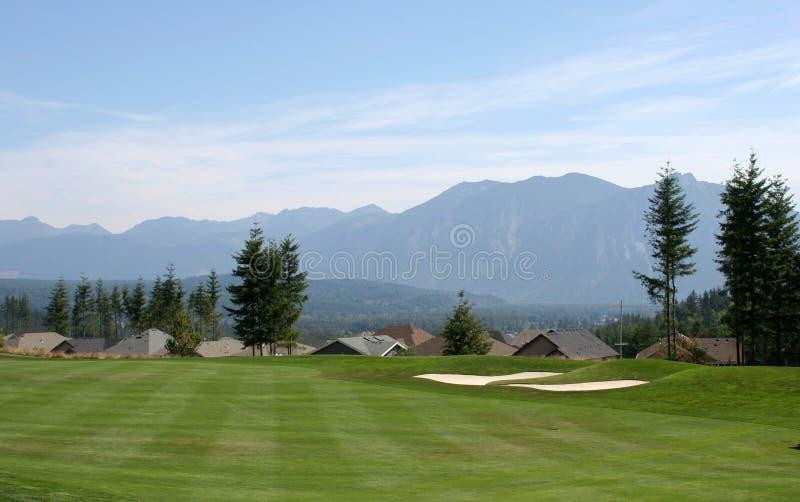 Espacio abierto del campo de golf fotos de archivo libres de regalías