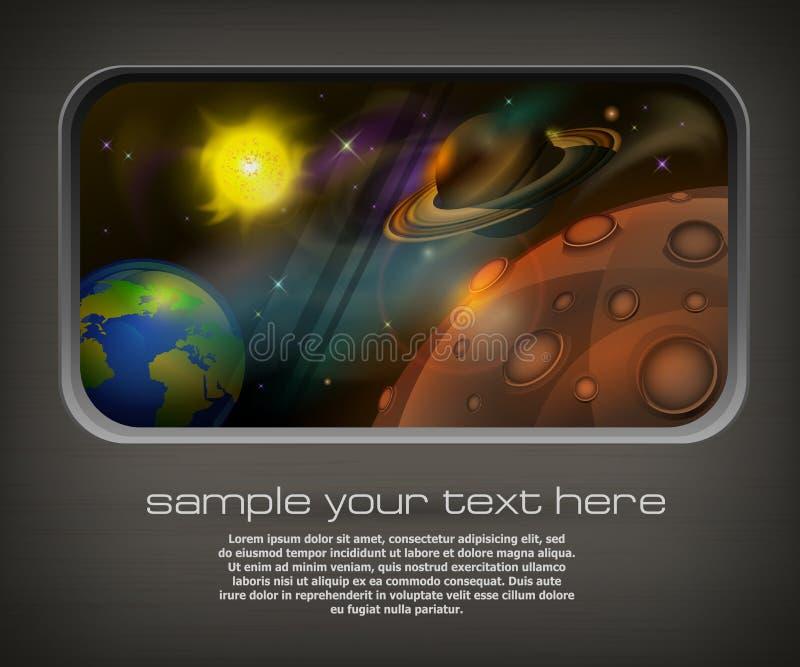 Espacio abierto y texto ilustración del vector