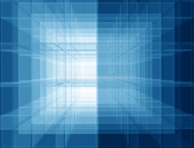 Espacio azul virtual ilustración del vector