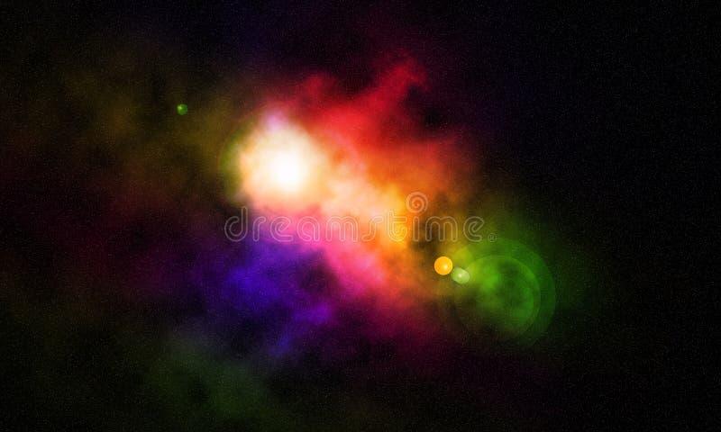 Espacio cósmico ilustración del vector