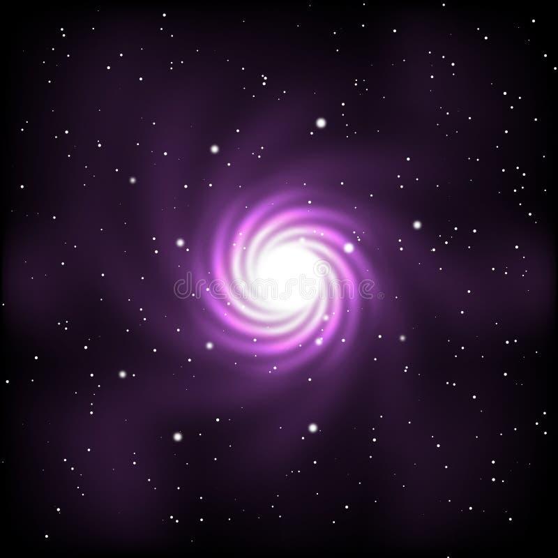 Espacio con las estrellas y la galaxia stock de ilustración