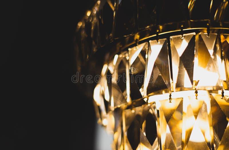 Espacio cristalino de la copia de la bruja del primer de las escalas de la lámpara fotos de archivo