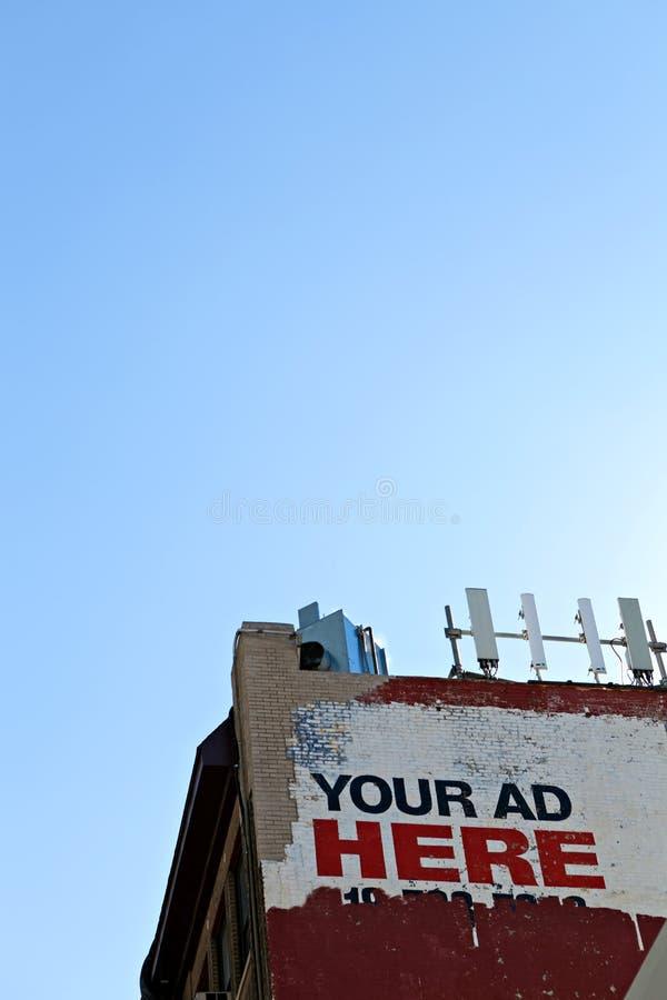 Espacio de la cartelera de publicidad fotos de archivo