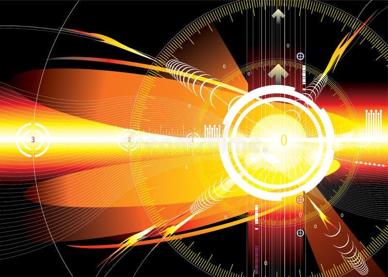 Espacio de la energía stock de ilustración