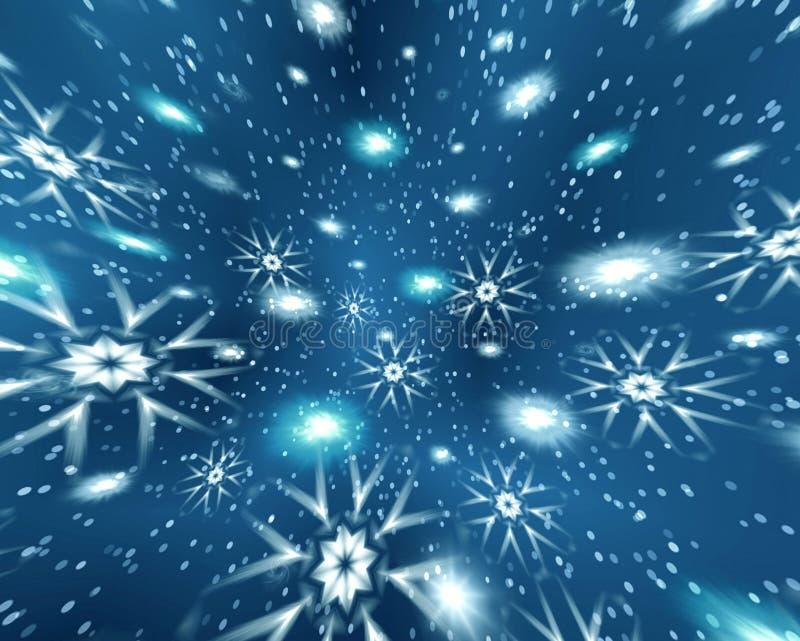 Espacio de la Navidad de la abstracción ilustración del vector