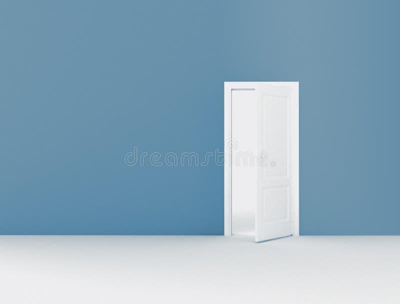 Espacio de la puerta abierta y de la copia ilustración del vector