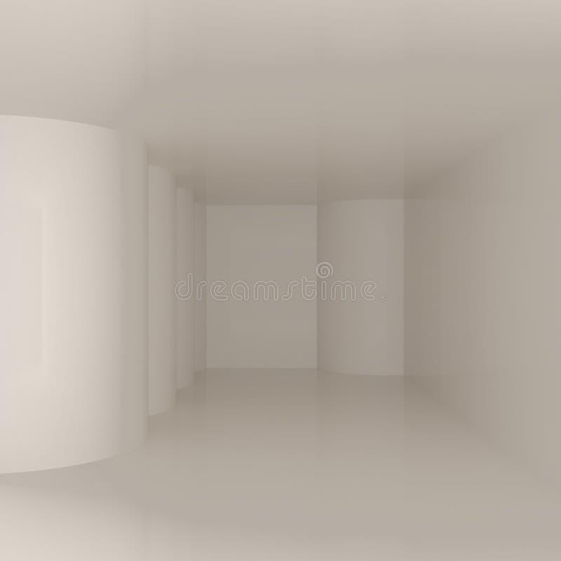 Espacio de oficina blanco ilustración del vector