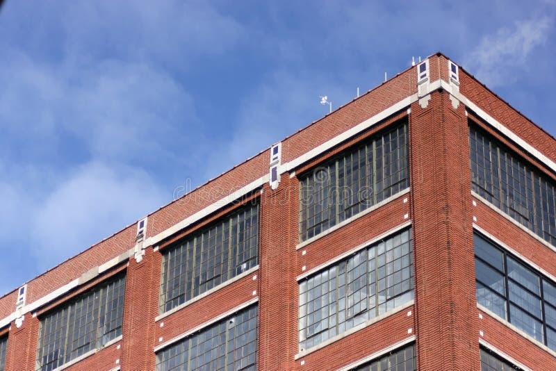 Espacio de Warehouse en viejo Ford Center fotografía de archivo