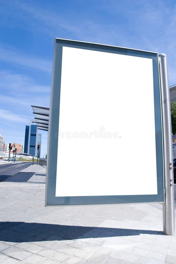 Espacio del anuncio fotografía de archivo libre de regalías
