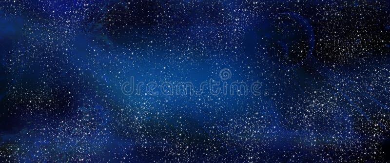 Espacio del cielo nocturno stock de ilustración