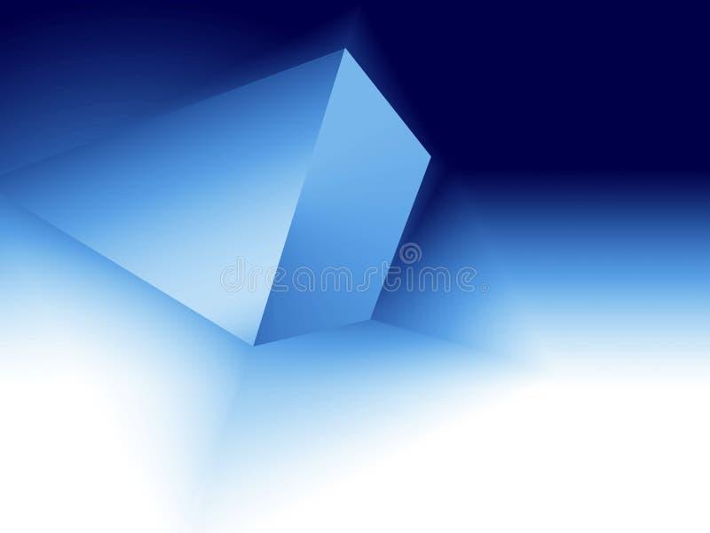 Espacio del rectángulo azul stock de ilustración