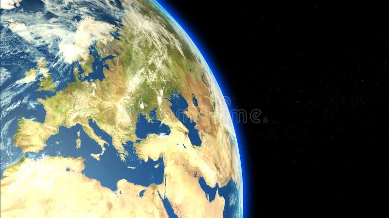 Espacio del viewfrom de Europa libre illustration