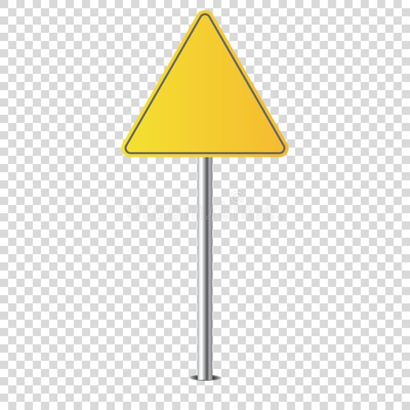 Espacio en blanco aislado señal de tráfico del metal para usted ilustración del vector