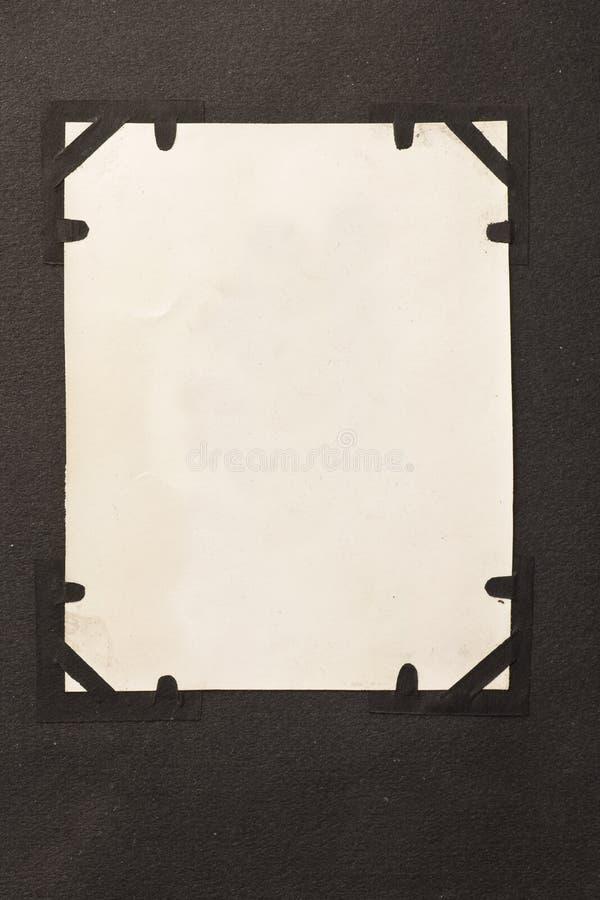 Espacio en blanco antiguo de la foto con el fondo de las esquinas fotos de archivo
