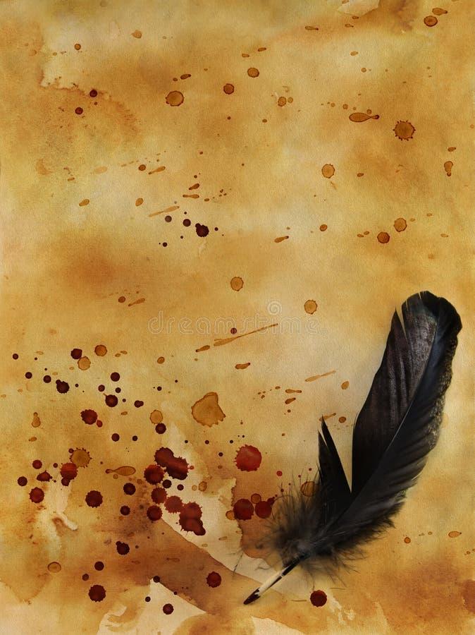 Espacio en blanco de Halloween con descensos sangrientos imagen de archivo