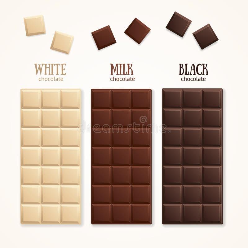 Espacio en blanco de la barra de chocolate Vector libre illustration