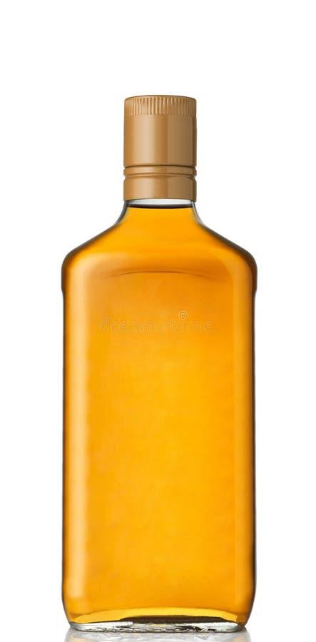 Espacio en blanco de la botella de whisky fotografía de archivo