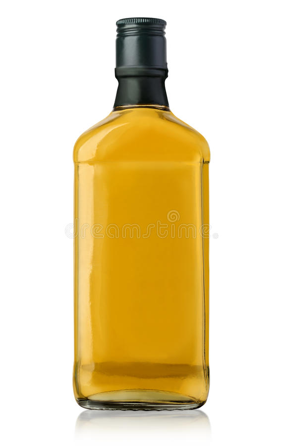 Espacio en blanco de la botella de whisky imagen de archivo