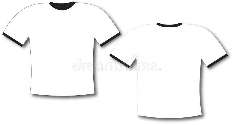 Espacio en blanco de la camiseta ilustración del vector