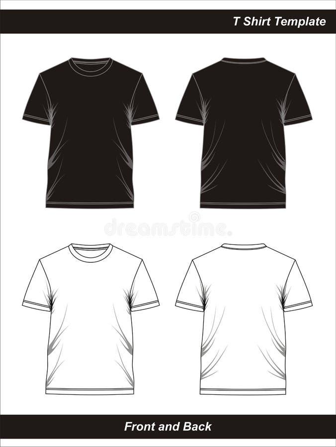 01 Espacio en blanco de la camiseta de la plantilla, vector libre illustration