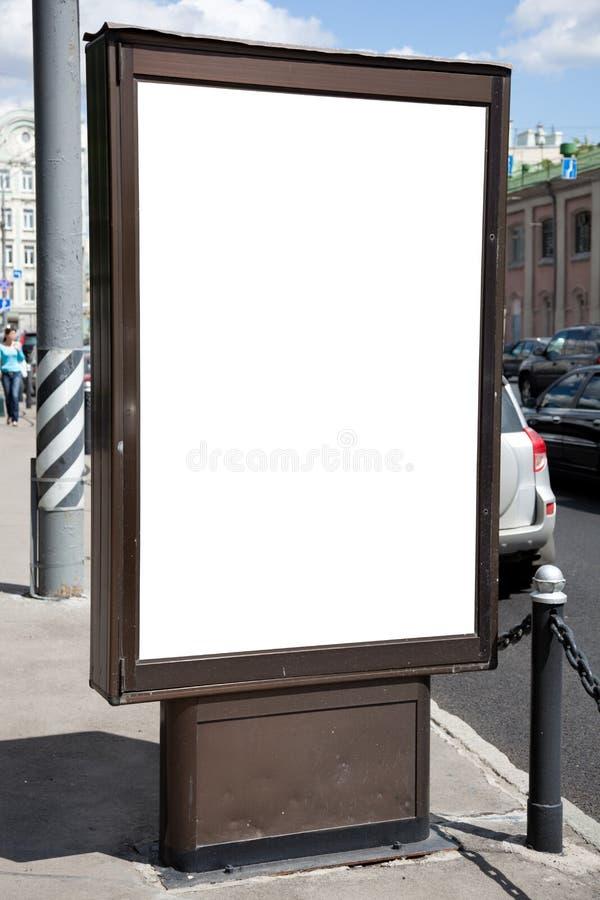 Espacio en blanco de la cartelera imagen de archivo libre de regalías
