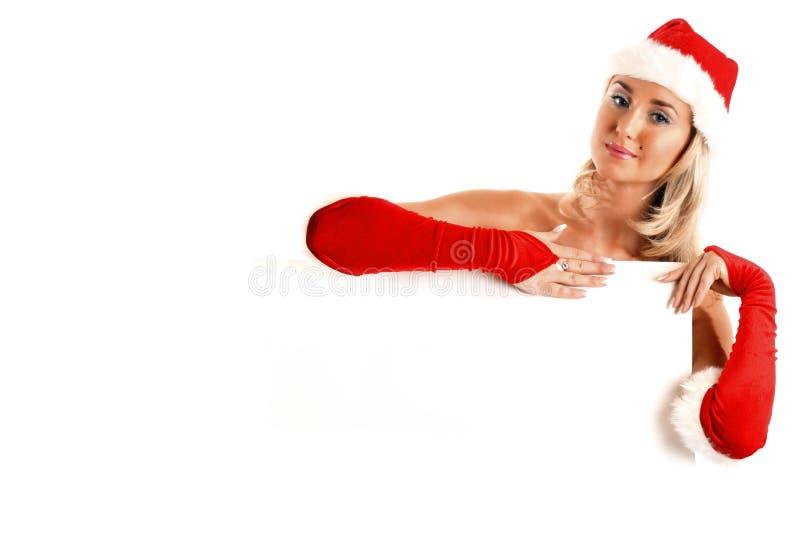 Espacio en blanco de la Navidad foto de archivo
